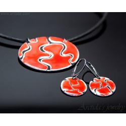 Black and Red enameled...