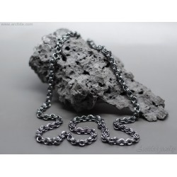 Mens necklace Oxidized...