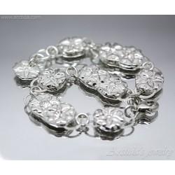 Flower bracelet fine silver...