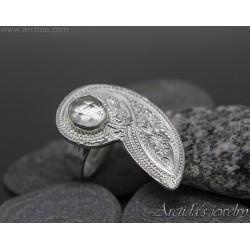 Paisley mönstrad silverring...