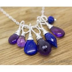 Ametist Lapis lazuli silver...