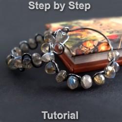 DIY Gemstone Hoops earrings...