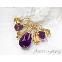 Citrine Amethyst necklace...