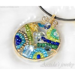 Mosaic necklace OOAK...