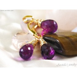 Amethyst necklace and...