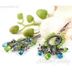 Apatite Peridot earrings...