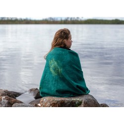 Nuno felted shawl Emerald...