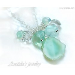 Mint necklace mint green...