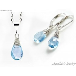 Sky Blue Topaz necklace and...