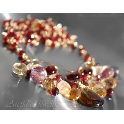 Garnet Citrine golden...