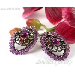 Amethyst earrings ornate...