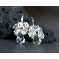 Keishi pärlor Bergkristall...