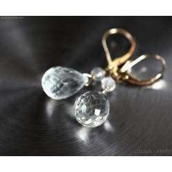 Bergkristall örhängen äkta...
