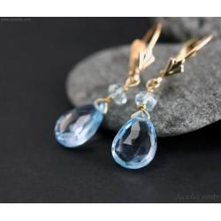 Aquamarine Sky Blue Topaz...
