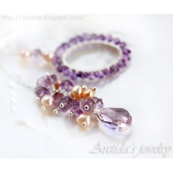 Lariat necklace Amethyst...