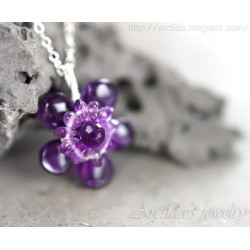Amethyst necklace sterling...