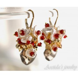 Garnet earrings Red Garnet...