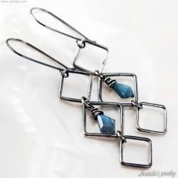 Labradorite earrings Gothic...