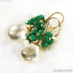 Genuine Emerald earrings...