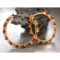 Gemstone hoops Carnelian...