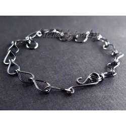 Mens bracelet oxidized...