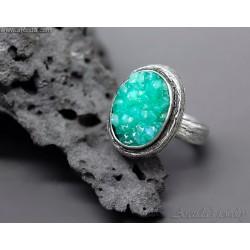 Grön Kvarts ring sterling...