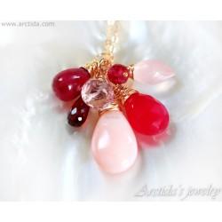 Garnet Pink Opal Red...