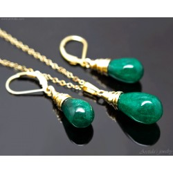 Green Agate and gold...