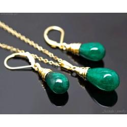 Gröna smycken Grön Agat...