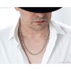 Mens necklace Silver...