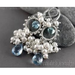 Aquamarine Pearls blue...